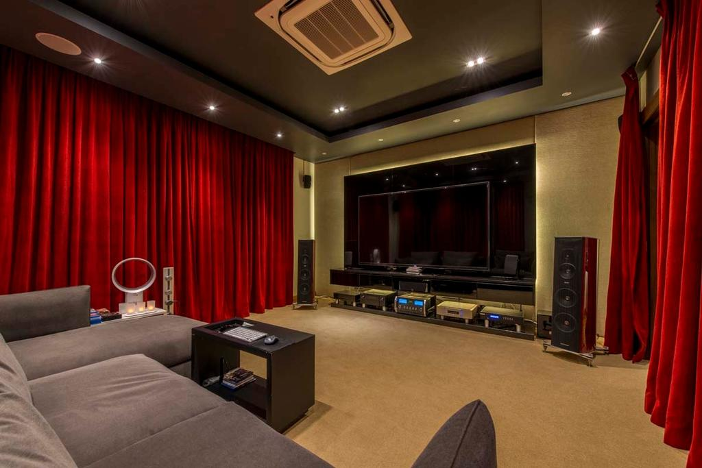 Transitional, Landed, Yunnan Crescent (Block 124), Interior Designer, Posh Living Interior Design, Entertainment Room, Sofa, Carpet, Curtain, Tv, Speakers, Down Lights, Electronics, Entertainment Center, Home Theater