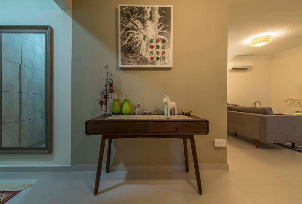 Scandinavian, HDB, Living Room, Simei Road (Block 157), Interior Designer, Posh Living Interior Design, Table, Art Work, Sofa, Shelf