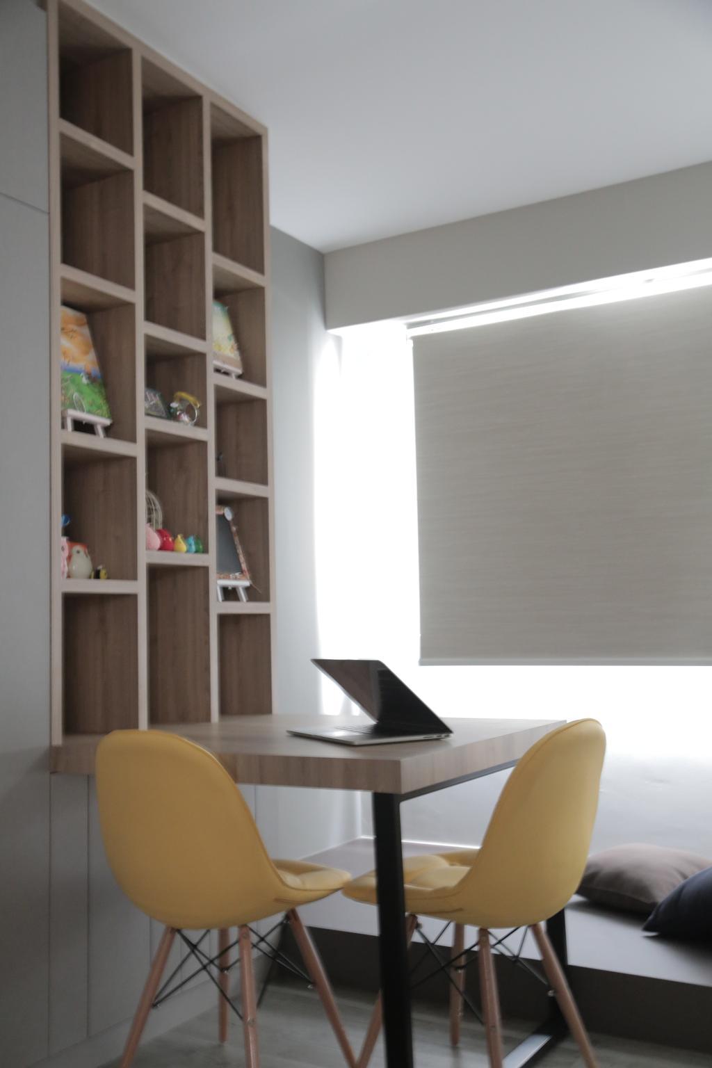 Minimalistic, HDB, Study, Punggol Field (Block 258C), Interior Designer, Forefront Interior, Indoors, Interior Design