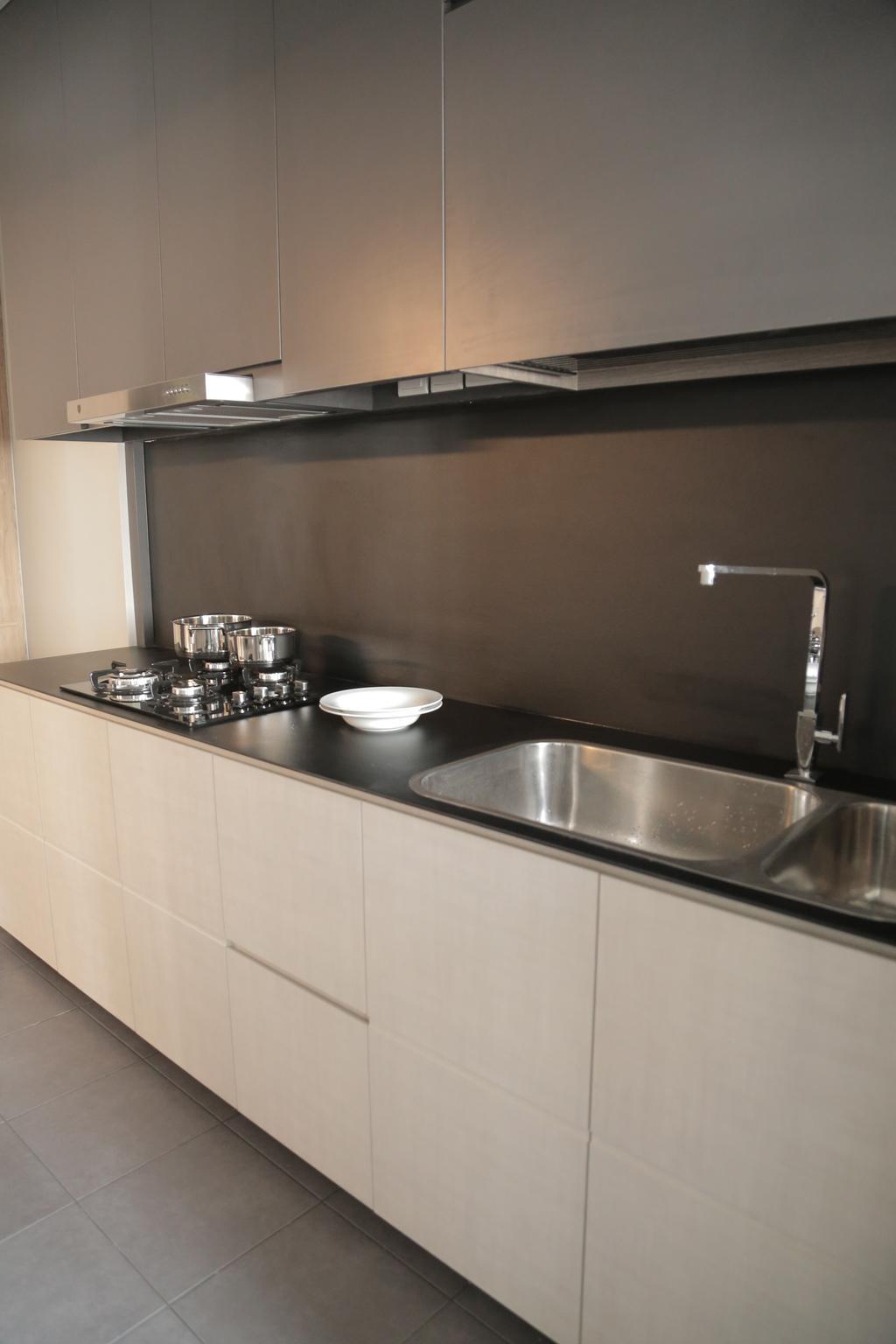 Minimalistic, HDB, Kitchen, Punggol Field (Block 258C), Interior Designer, Forefront Interior, Indoors, Interior Design, Room