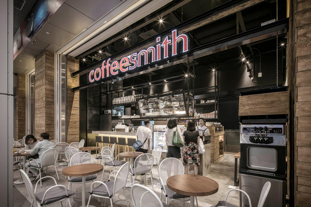 Coffeesmith, Ethereall, Industrial, Commercial, Cafe, Restaurant, Dining Table, Furniture, Table, Food, Food Court