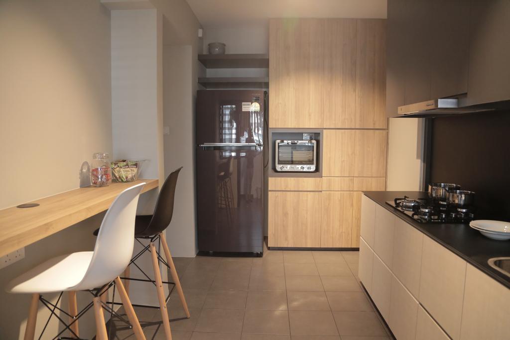 Minimalist, HDB, Kitchen, Punggol Field (Block 258C), Interior Designer, Forefront Interior, Chair, Furniture, Indoors, Interior Design, Room