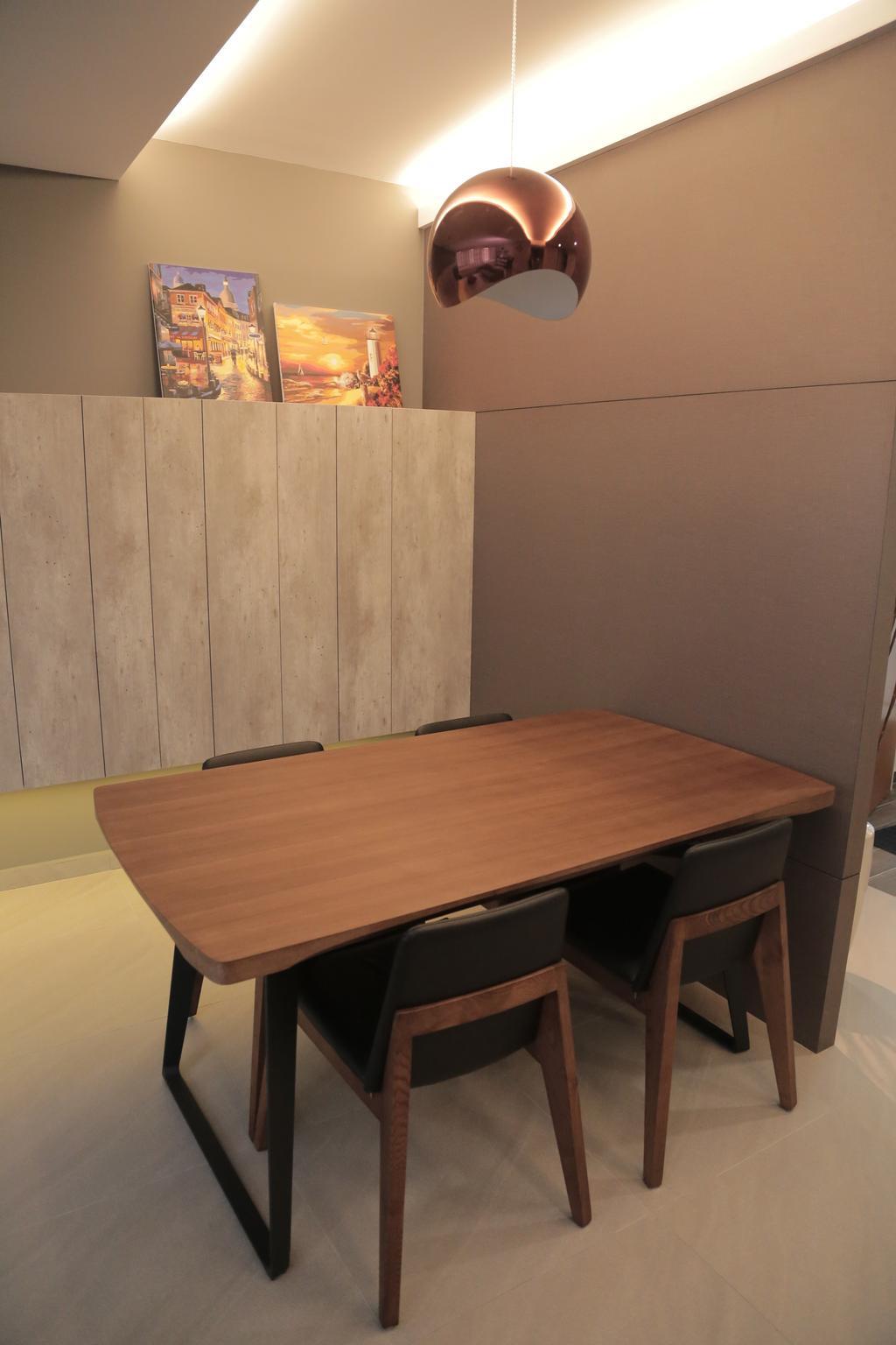 Minimalistic, HDB, Dining Room, Punggol Field (Block 258C), Interior Designer, Forefront Interior, Dining Table, Furniture, Table
