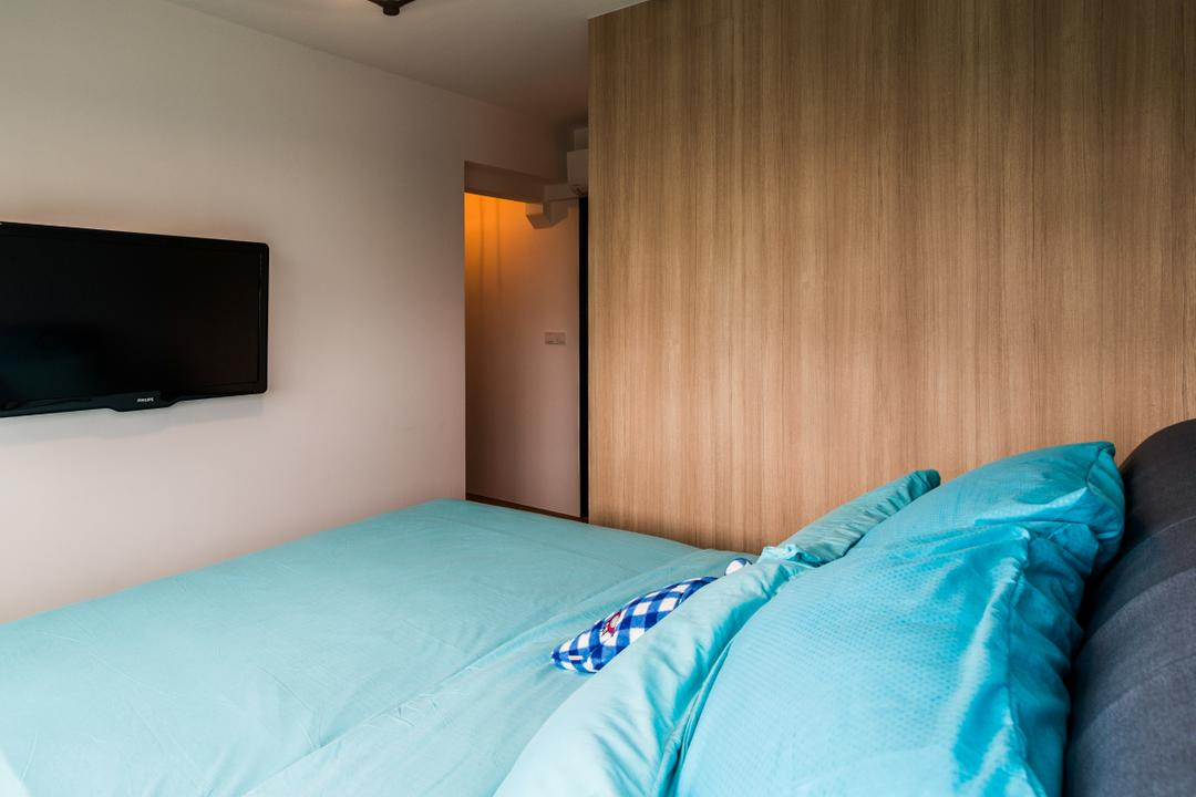 Fernvale Link, Tab Gallery, Industrial, Scandinavian, Bedroom, HDB, Bed, Furniture, Electronics, Lcd Screen, Monitor, Screen