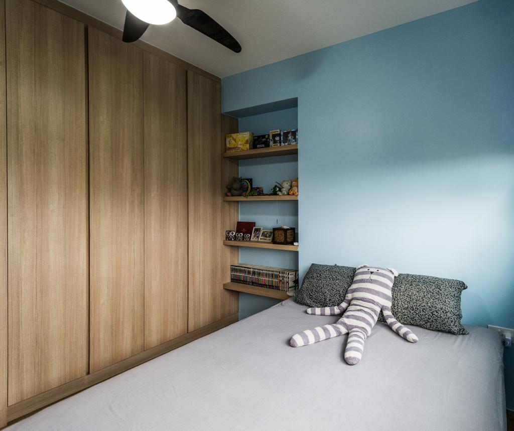 Industrial, HDB, Fernvale Link, Interior Designer, Tab Gallery, Scandinavian, Bookcase, Furniture, Shelf