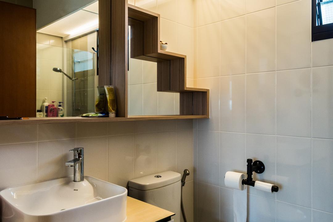 Fernvale Link, Tab Gallery, Industrial, Scandinavian, Bathroom, HDB, Paper, Paper Towel, Tissue, Towel, Toilet Paper