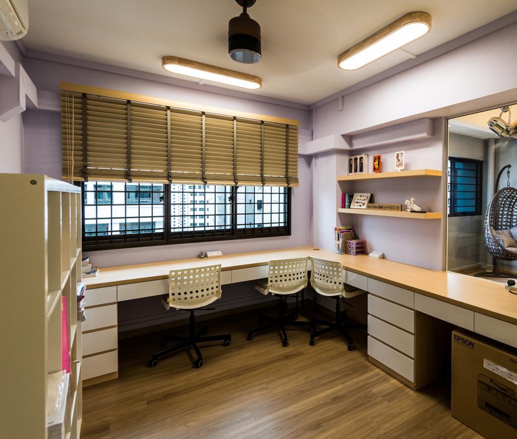 Modern, HDB, Study, Senja Road, Interior Designer, Tab Gallery, Shelf