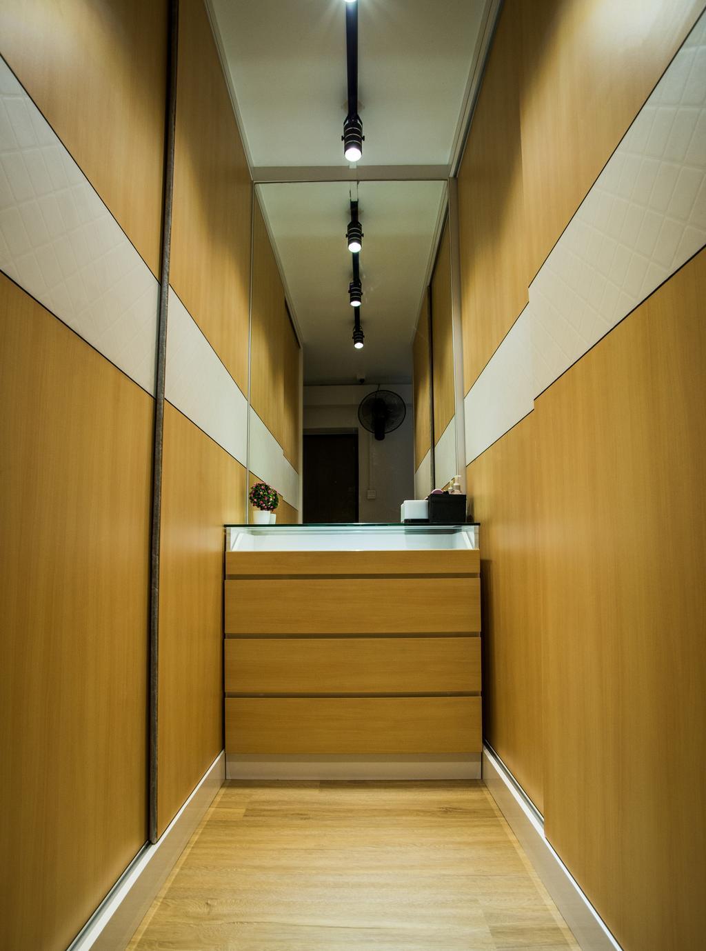 Modern, HDB, Senja Road, Interior Designer, Tab Gallery, Banister, Handrail, Staircase