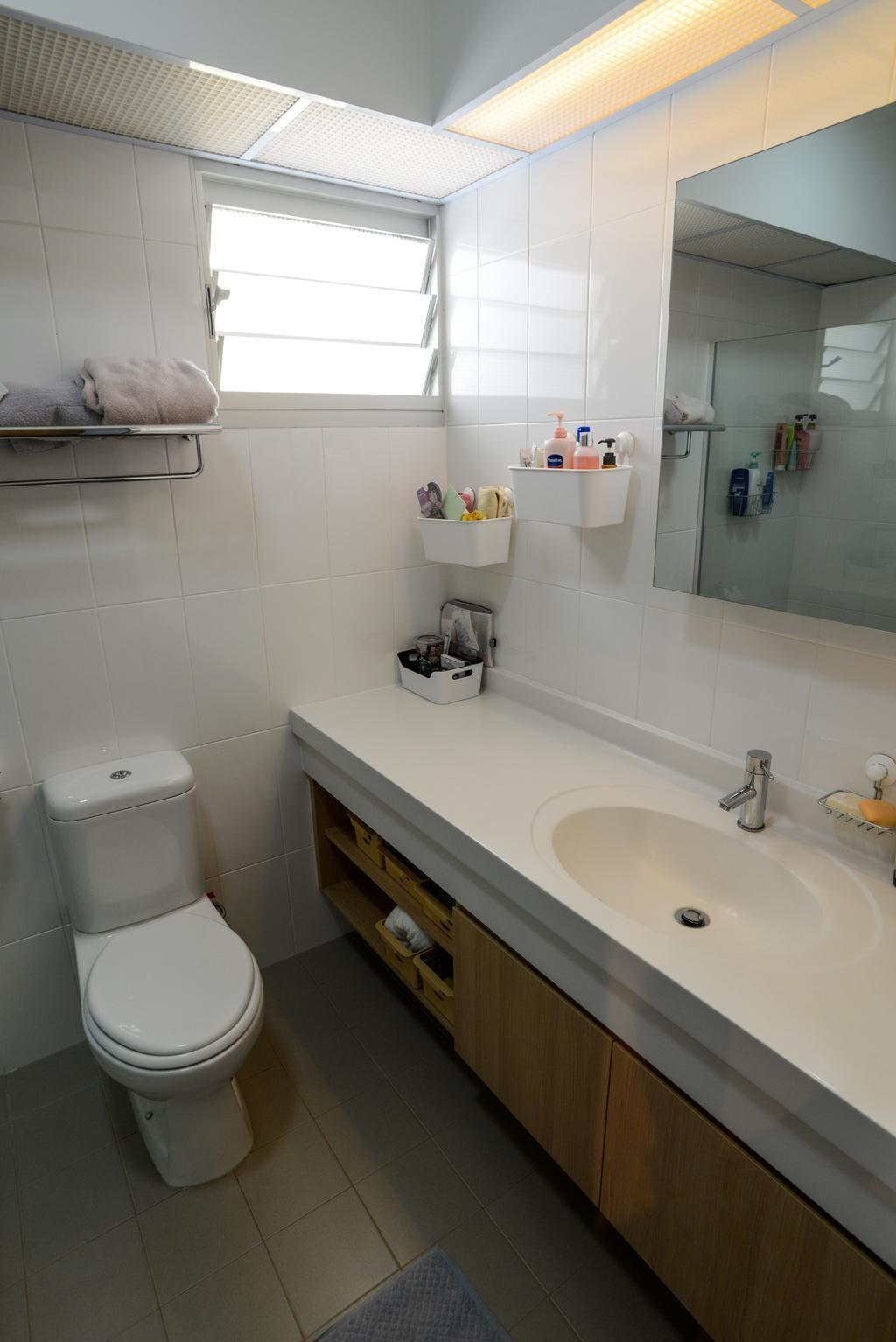 Modern, HDB, Bathroom, Clementi Avenue 4, Interior Designer, Tab Gallery, Scandinavian, Appliance, Electrical Device, Fridge, Refrigerator, Toilet