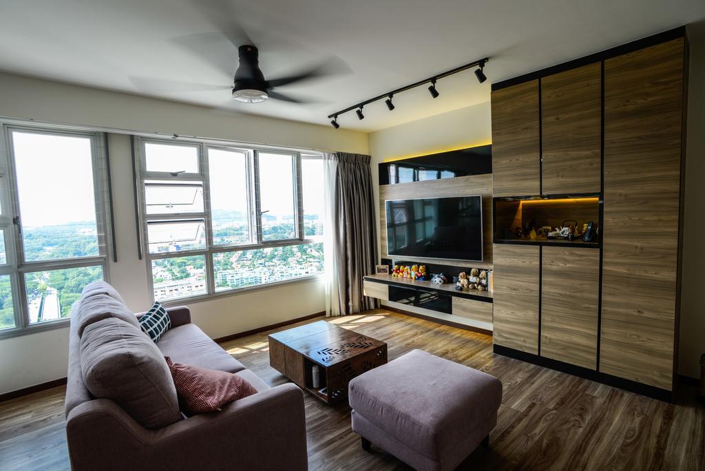 Modern, HDB, Living Room, Clementi Avenue 4, Interior Designer, Tab Gallery, Scandinavian, Couch, Furniture, Electronics, Entertainment Center
