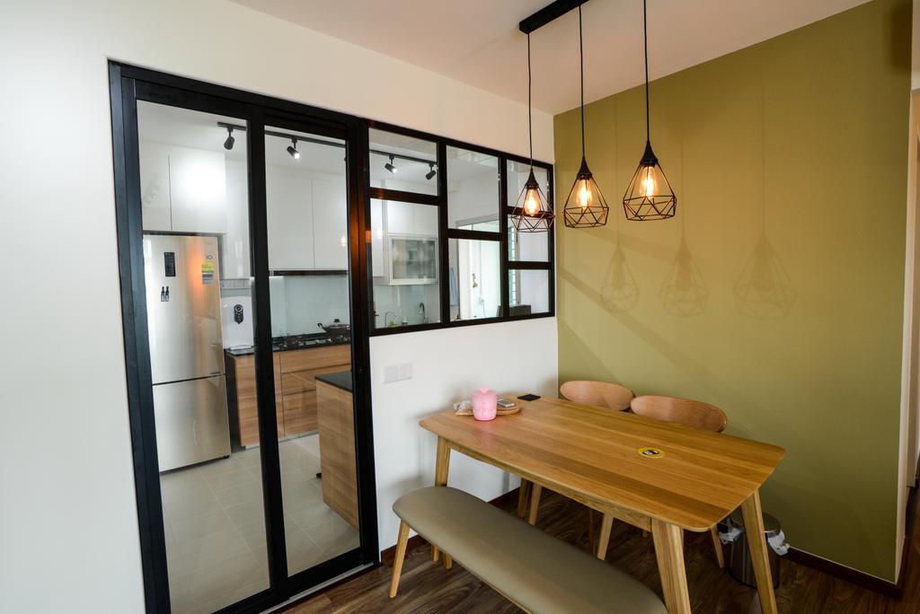 Modern, HDB, Dining Room, Clementi Avenue 4, Interior Designer, Tab Gallery, Scandinavian, Dining Table, Furniture, Table
