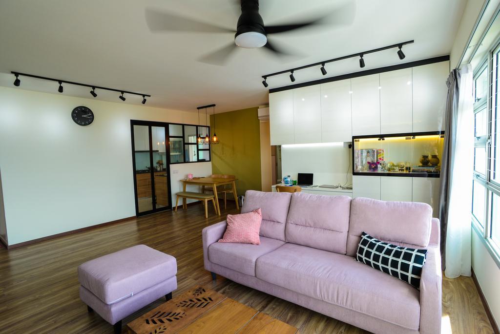Modern, HDB, Living Room, Clementi Avenue 4, Interior Designer, Tab Gallery, Scandinavian, Couch, Furniture, Dining Room, Indoors, Interior Design, Room