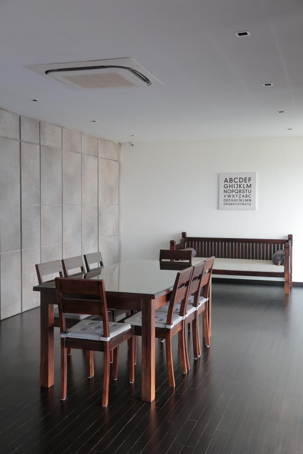 Contemporary, Landed, Dining Room, Tai Hwan Crescent, Interior Designer, Forefront Interior, Chair, Furniture, Dining Table, Table