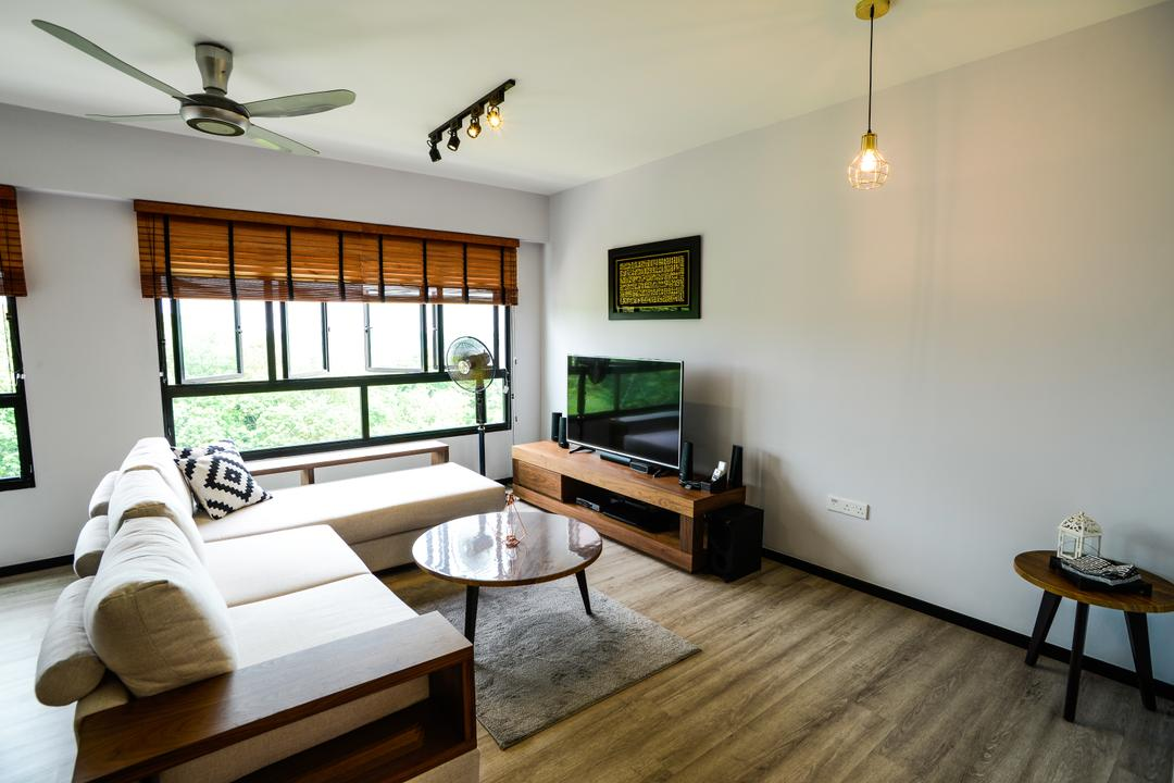 Yishun Avenue 4, Tab Gallery, Minimalistic, Industrial, Living Room, HDB, Electronics, Monitor, Screen, Tv, Television, Coffee Table, Furniture, Table, Dining Table, Indoors, Room