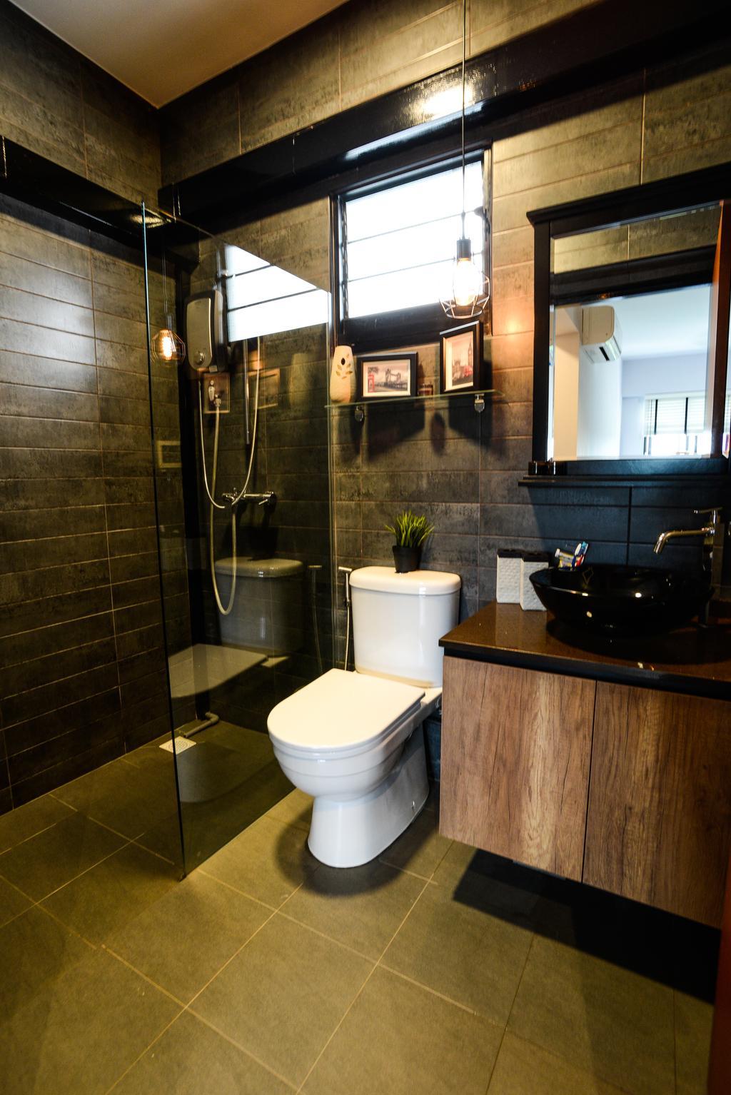 Minimalistic, HDB, Yishun Avenue 4, Interior Designer, Tab Gallery, Industrial, Sink, Toilet, Plumbing, Bathroom, Indoors, Interior Design, Room