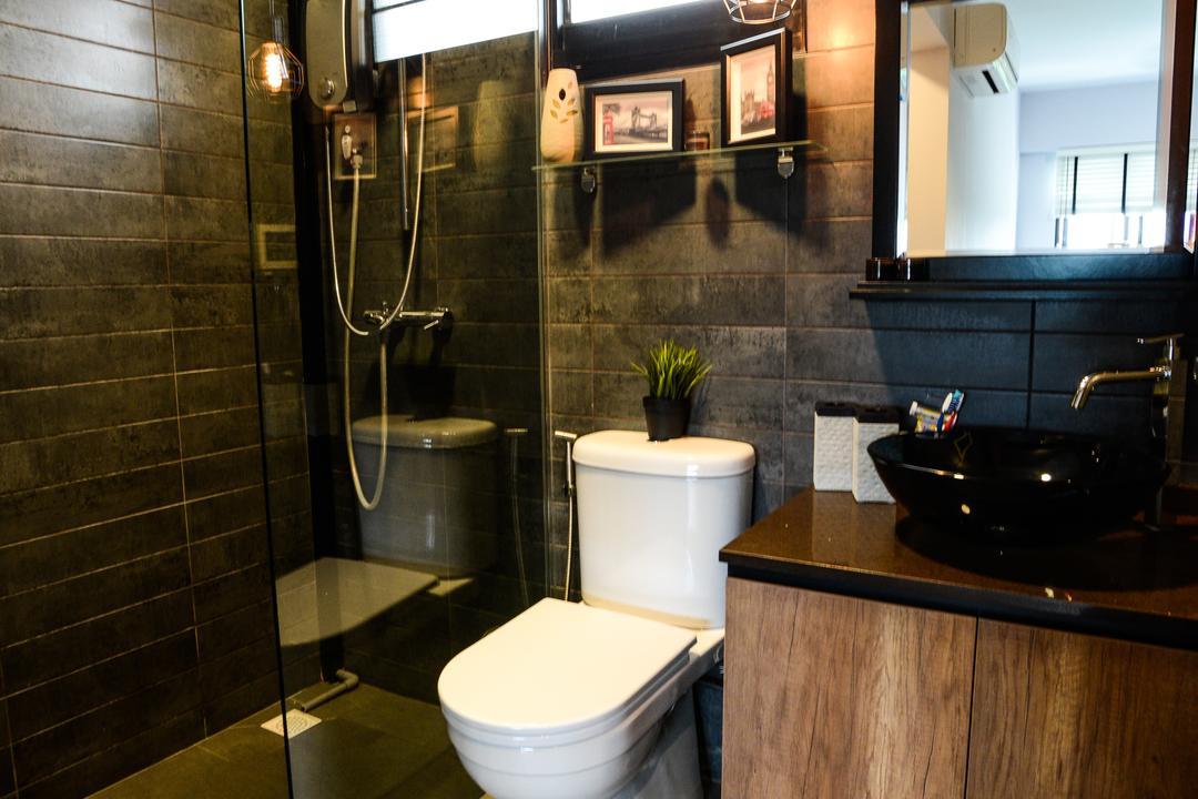 Yishun Avenue 4, Tab Gallery, Minimalistic, Industrial, HDB, Sink, Toilet, Plumbing, Bathroom, Indoors, Interior Design, Room