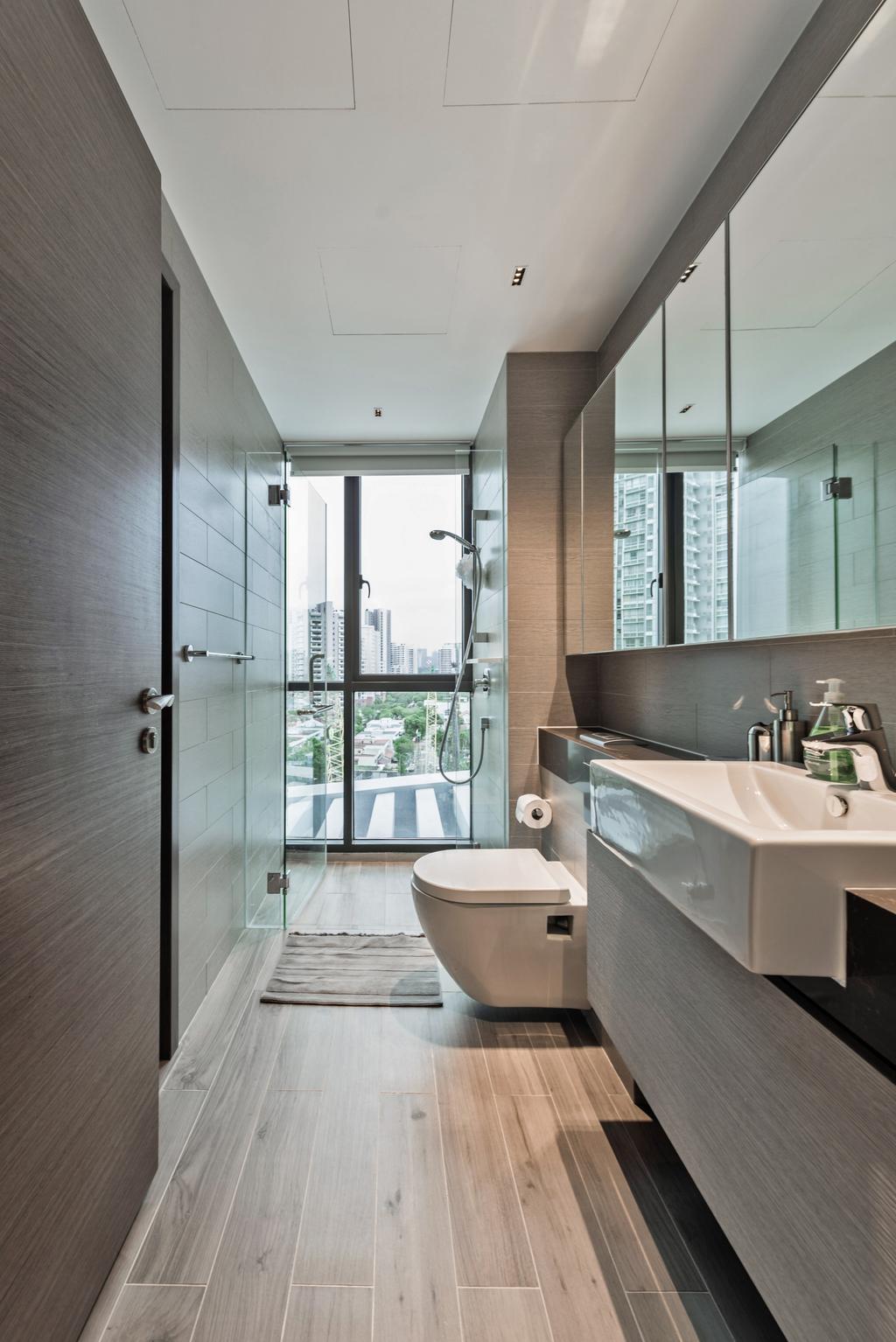 Condo, Bathroom, Amber Skye, Interior Designer, Mr Shopper Studio, Indoors, Interior Design, Room, Toilet, Balcony
