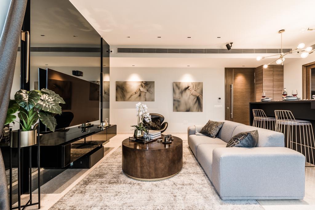 Condo, Living Room, Amber Skye, Interior Designer, Mr Shopper Studio, Indoors, Interior Design