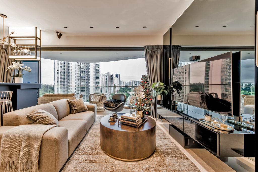 Condo, Living Room, Amber Skye, Interior Designer, Mr Shopper Studio, Couch, Furniture, Indoors, Interior Design