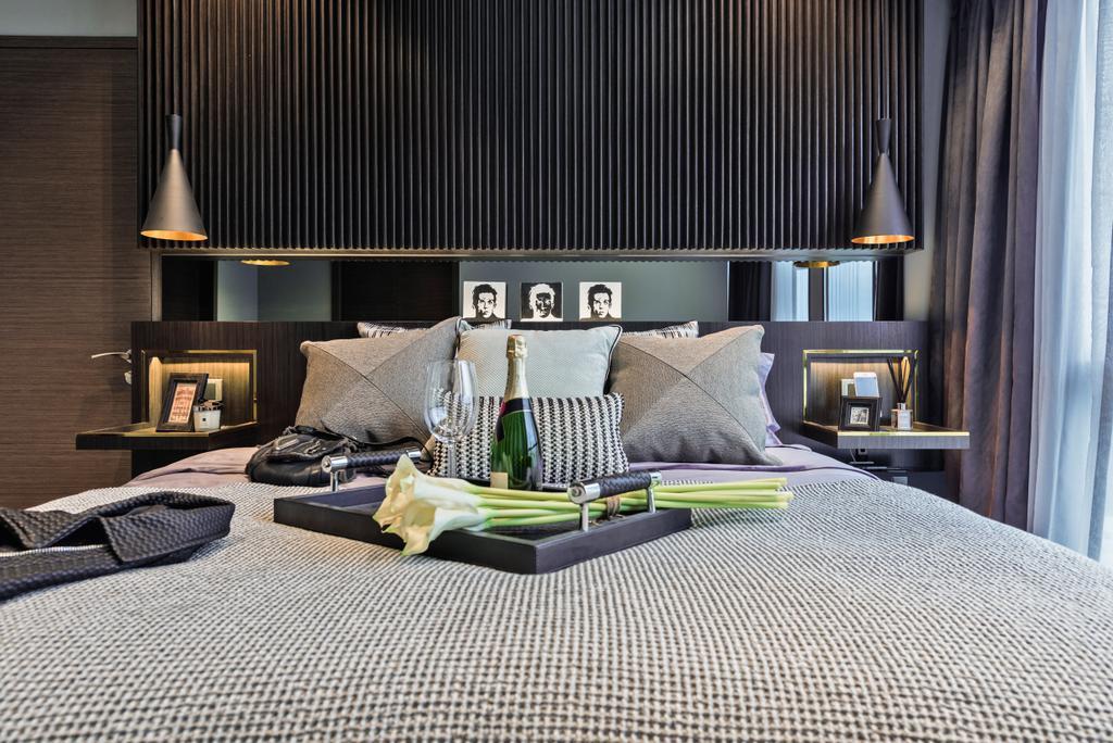 Condo, Bedroom, Amber Skye, Interior Designer, Mr Shopper Studio, Indoors, Interior Design, Couch, Furniture