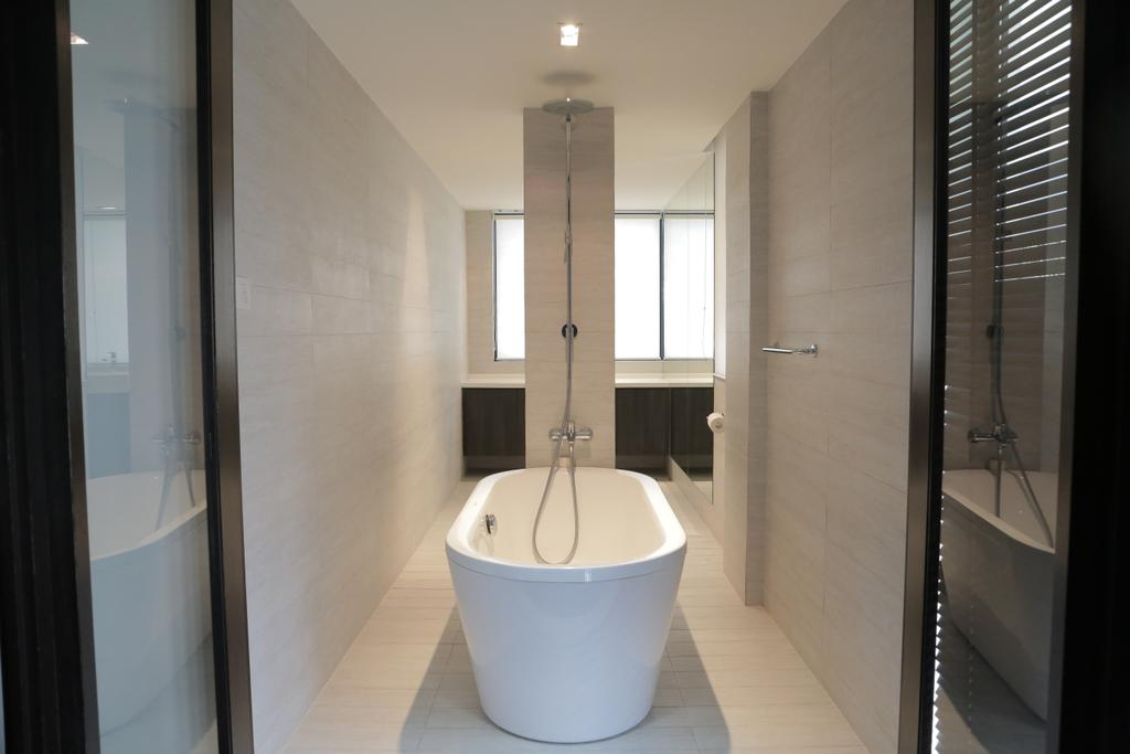 Contemporary, Landed, Bathroom, Tai Hwan Crescent, Interior Designer, Forefront Interior, Indoors, Interior Design, Corridor