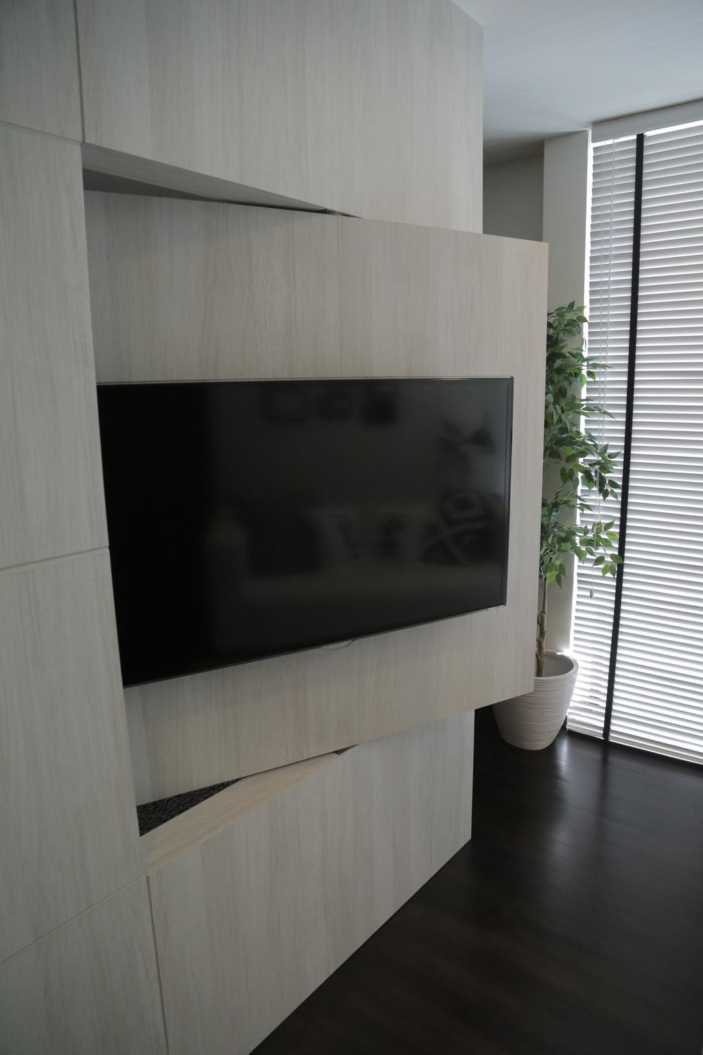Contemporary, Landed, Living Room, Tai Hwan Crescent, Interior Designer, Forefront Interior, Flora, Jar, Plant, Potted Plant, Pottery, Vase, Vine, Ivy, Electronics, Lcd Screen, Monitor, Screen