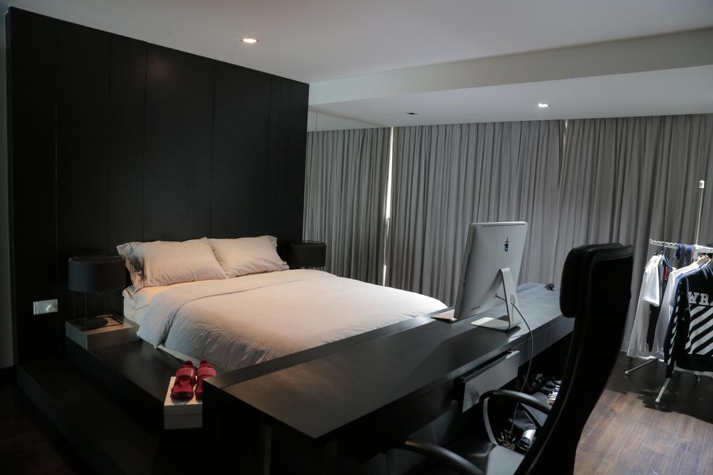 Contemporary, Landed, Bedroom, Tai Hwan Crescent, Interior Designer, Forefront Interior, Indoors, Room, Bed, Furniture, Chair
