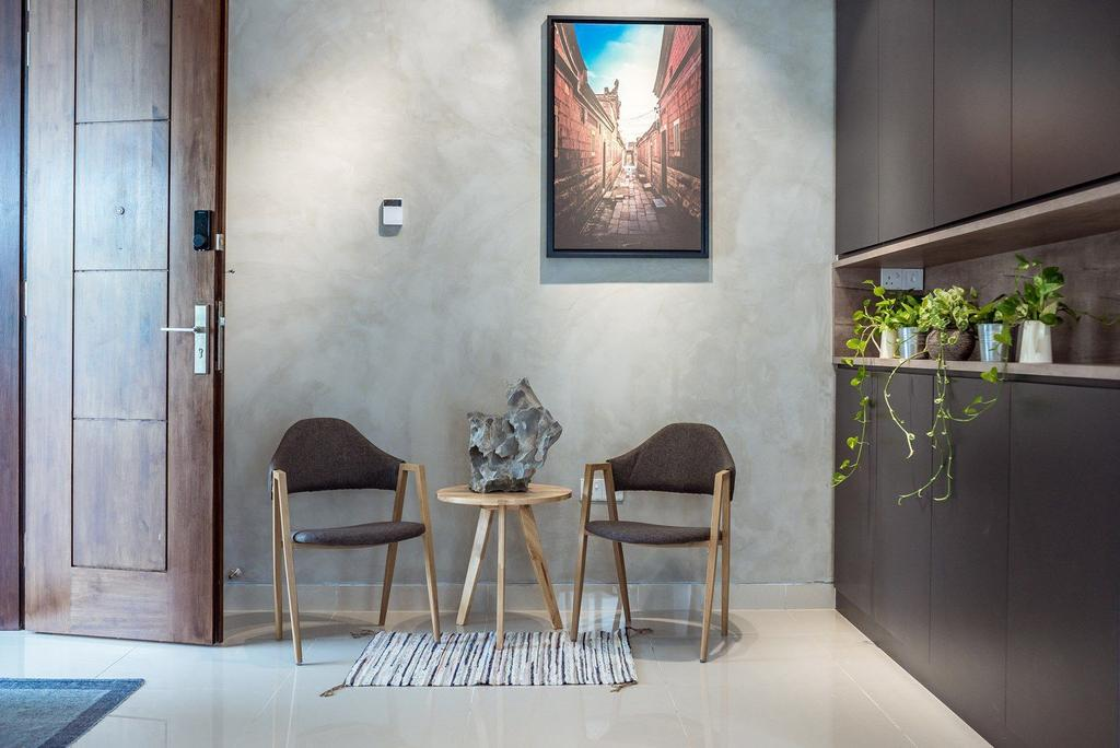 Contemporary, Landed, Living Room, The Enclave, Ipoh, Architect, Code Red Studio, Chair, Furniture, Flora, Jar, Plant, Potted Plant, Pottery, Vase, Dining Room, Indoors, Interior Design, Room, Art, Planter