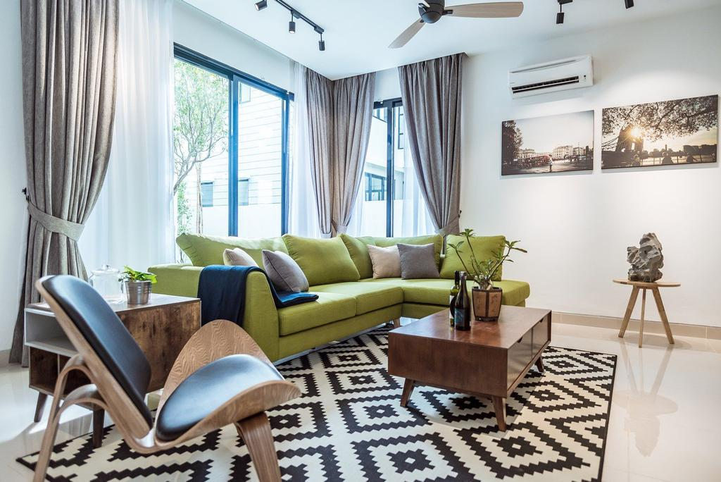 Contemporary, Landed, Living Room, The Enclave, Ipoh, Architect, Code Red Studio, Couch, Furniture, Flora, Jar, Plant, Potted Plant, Pottery, Vase, Chair, Indoors, Room, Interior Design