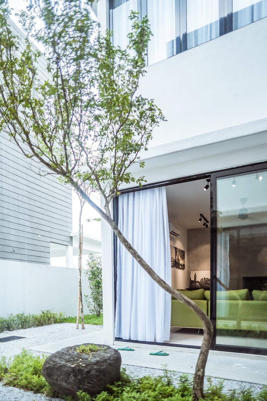 Contemporary, Landed, Garden, The Enclave, Ipoh, Architect, Code Red Studio, Door, Sliding Door