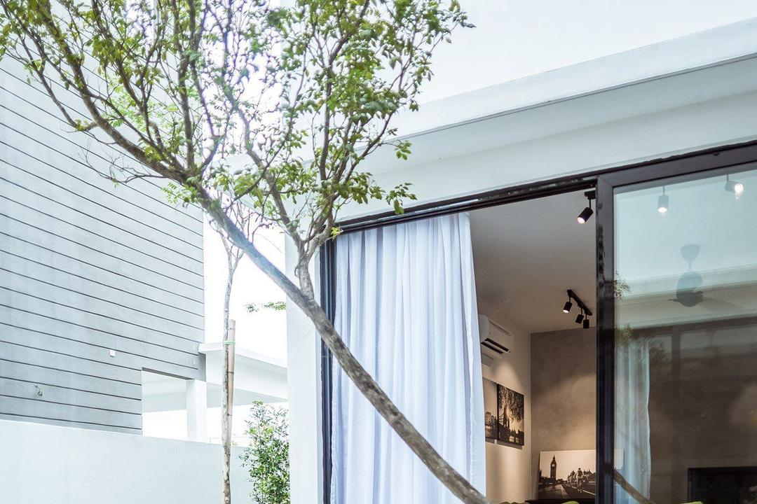 The Enclave, Ipoh, Code Red Studio, Contemporary, Garden, Landed, Door, Sliding Door