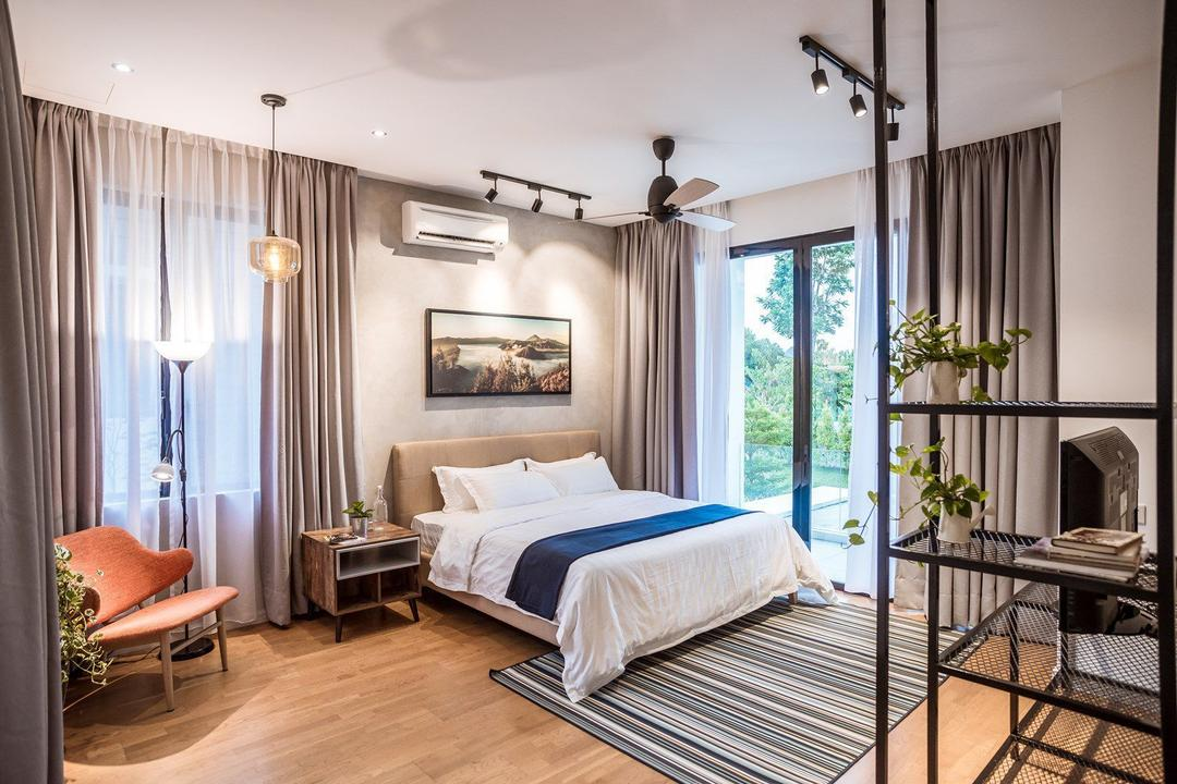 The Enclave, Ipoh, Code Red Studio, Contemporary, Bedroom, Landed, Couch, Furniture, Flora, Jar, Plant, Potted Plant, Pottery, Vase, Indoors, Interior Design, Room, Chair, Planter