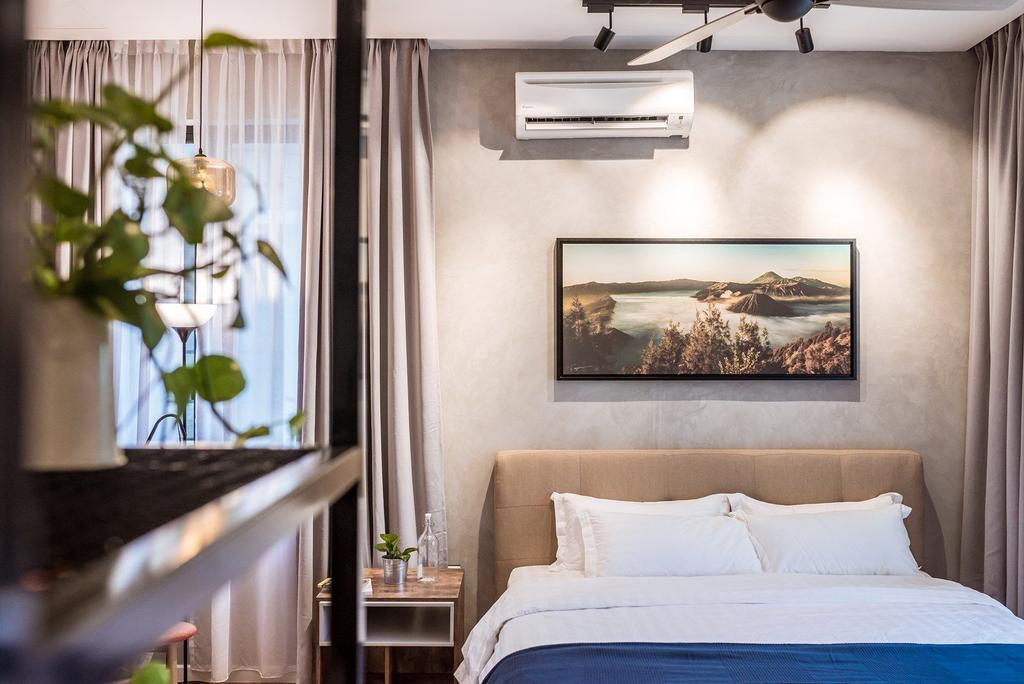 Contemporary, Landed, Bedroom, The Enclave, Ipoh, Architect, Code Red Studio, Flora, Jar, Plant, Potted Plant, Pottery, Vase, Indoors, Interior Design, Art, Painting, Room