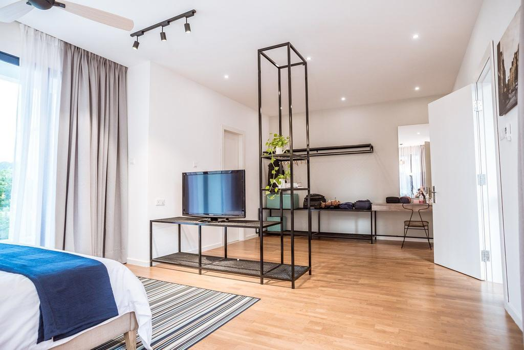 Contemporary, Landed, Bedroom, The Enclave, Ipoh, Architect, Code Red Studio, Flooring