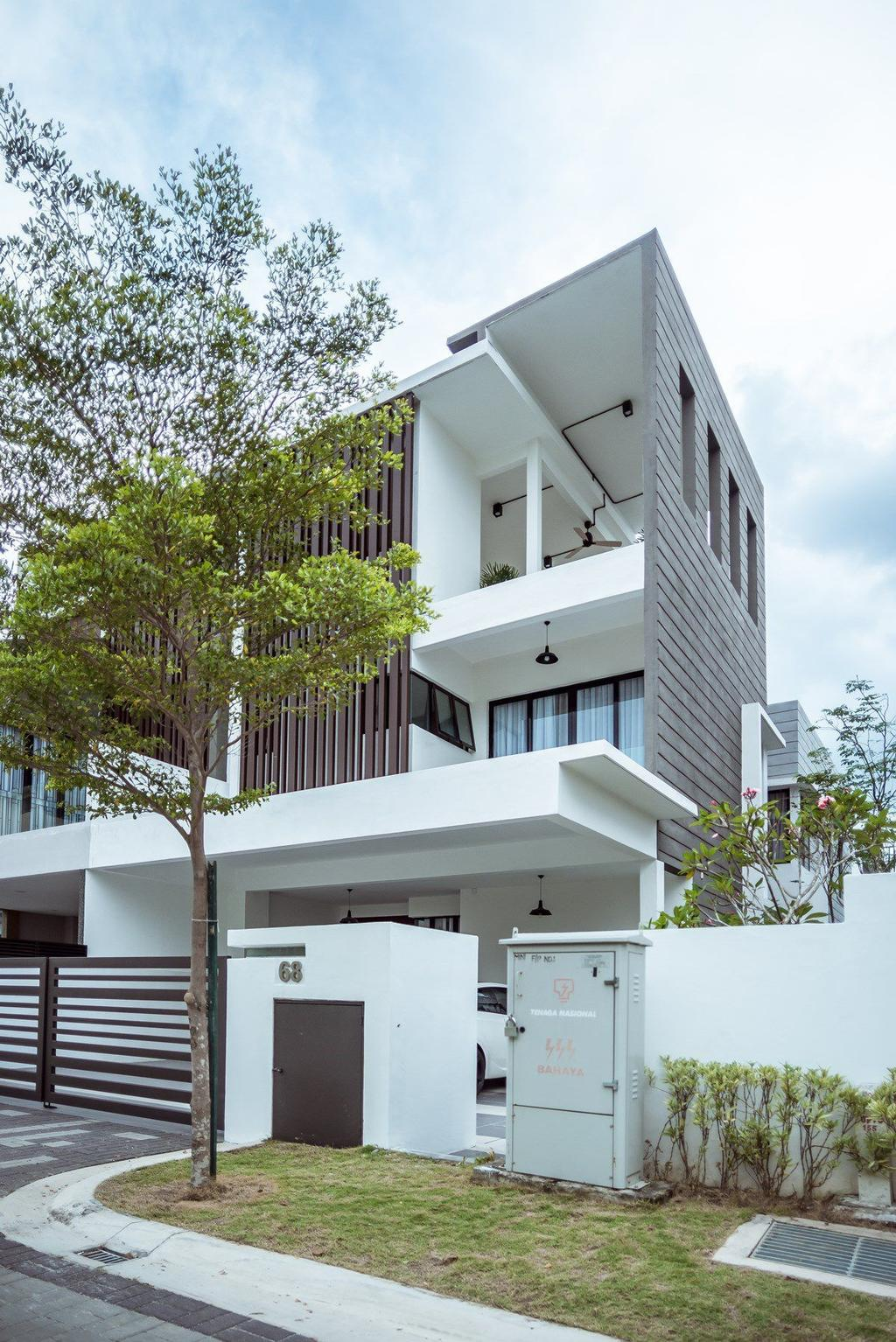 Contemporary, Landed, The Enclave, Ipoh, Architect, Code Red Studio, Flora, Jar, Plant, Potted Plant, Pottery, Vase, Building, House, Housing, Villa