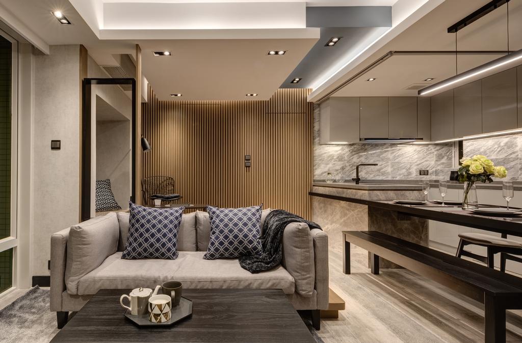 摩登, 私家樓, 客廳, 都會駅, 室內設計師, Pixel Interior Design, Couch, Furniture, Indoors, Interior Design