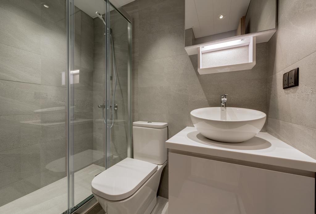 摩登, 私家樓, 浴室, 都會駅, 室內設計師, Pixel Interior Design, Indoors, Interior Design, Room, Toilet
