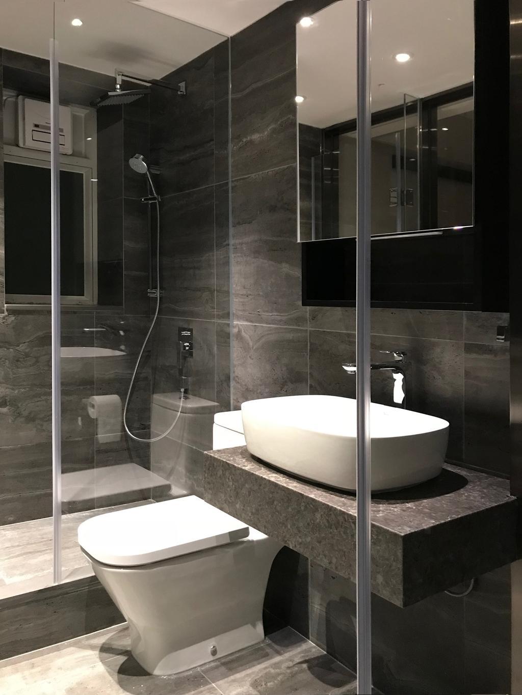 摩登, 私家樓, 浴室, 都會駅, 室內設計師, Pixel Interior Design, Indoors, Interior Design, Room, Bathtub, Tub