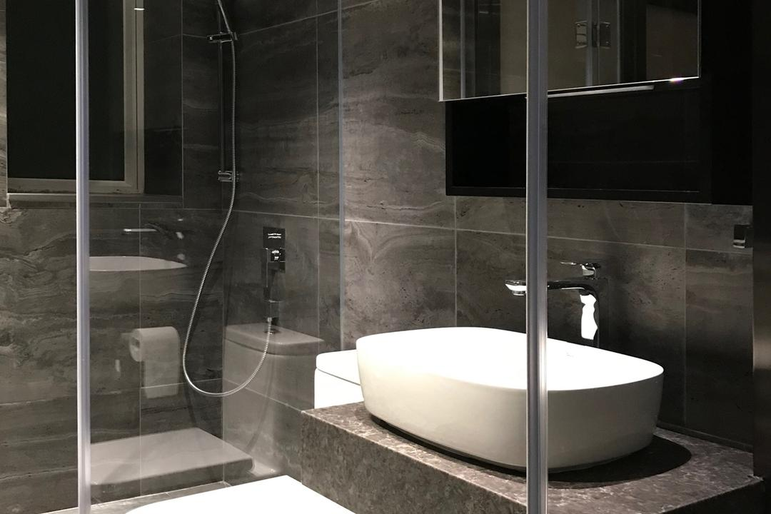 都會駅, Pixel Interior Design, 摩登, 浴室, 私家樓, Indoors, Interior Design, Room, Bathtub, Tub