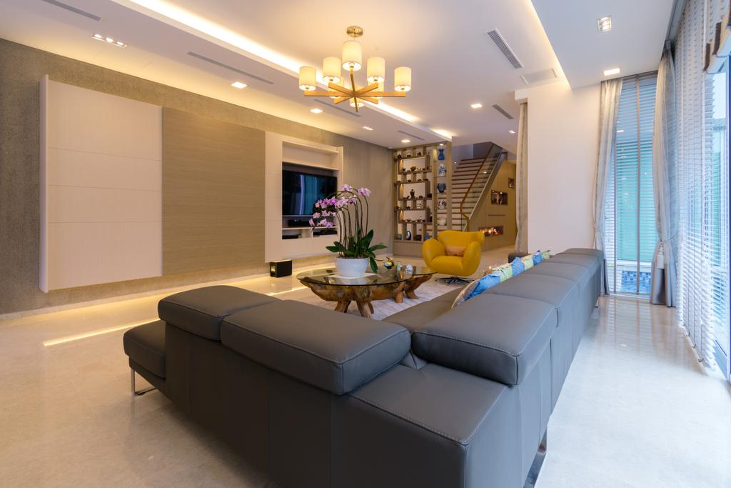 Contemporary, Landed, Living Room, Frankel Avenue, Interior Designer, Imago Dei 3, Flora, Jar, Plant, Potted Plant, Pottery, Vase, Indoors, Interior Design, Furniture