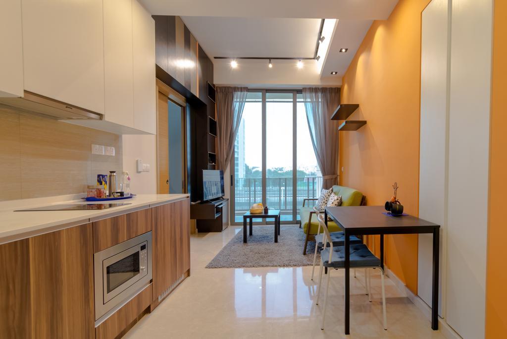 Modern, Condo, Kitchen, The Glades @ Tanah Merah, Interior Designer, Imago Dei 3, Indoors, Room, Flooring, Dining Room, Interior Design, Dining Table, Furniture, Table