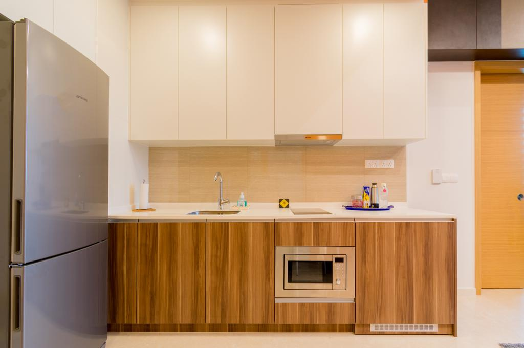 Modern, Condo, Kitchen, The Glades @ Tanah Merah, Interior Designer, Imago Dei 3, Indoors, Interior Design, Room, Appliance, Electrical Device, Fridge, Refrigerator