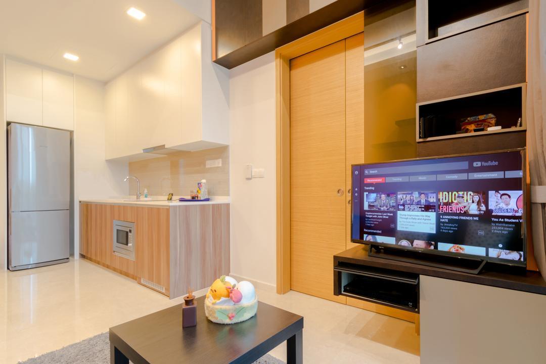 The Glades @ Tanah Merah, Imago Dei 3, Modern, Living Room, Condo, Cake, Dessert, Food, Indoors, Interior Design, Kitchen, Room