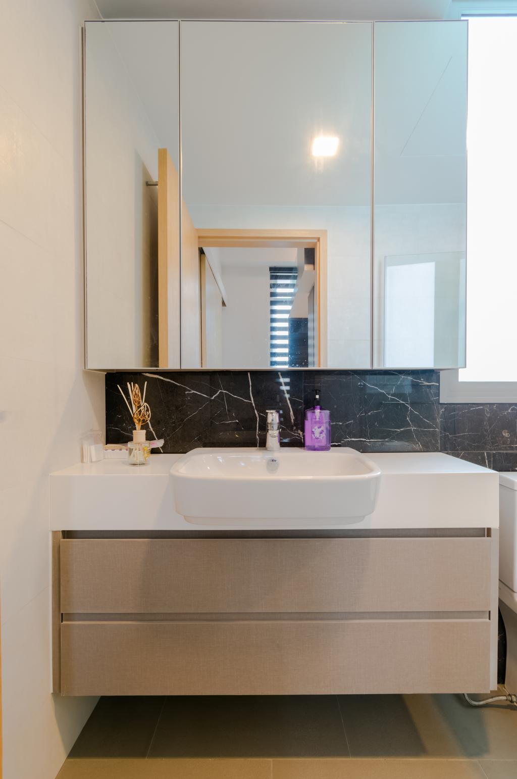 Modern, Condo, Bathroom, The Glades @ Tanah Merah, Interior Designer, Imago Dei 3, Sink