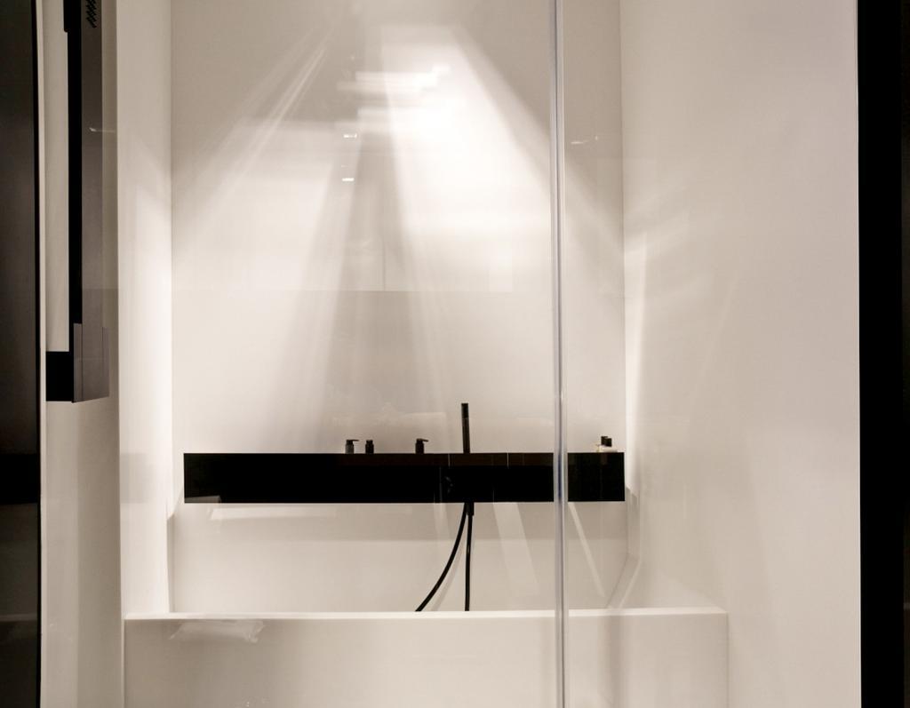 Minimalist, Condo, Bathroom, Paterson Suites, Interior Designer, Imago Dei 3, Bathtub, Bath Tub, Furniture, Sideboard