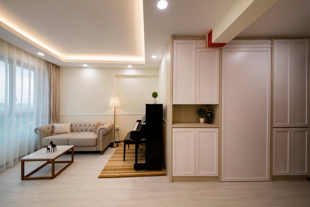 Modern, HDB, Living Room, Clementi (Block 312B), Interior Designer, ECasa Studio, Minimalistic, Indoors, Interior Design