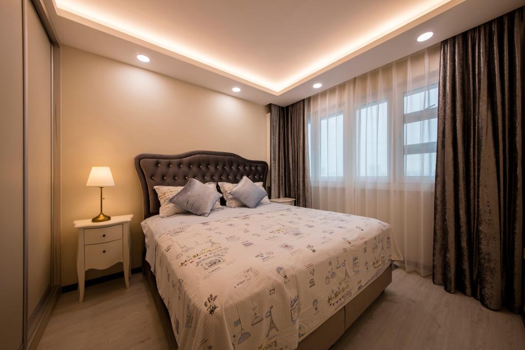 Modern, HDB, Bedroom, Clementi (Block 312B), Interior Designer, ECasa Studio, Minimalistic, Bed, Furniture, Indoors, Interior Design, Room