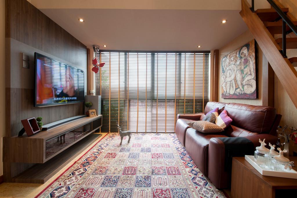 Contemporary, Condo, Living Room, Upper Changi Road, Interior Designer, ECasa Studio, Couch, Furniture, Bedroom, Indoors, Interior Design, Room