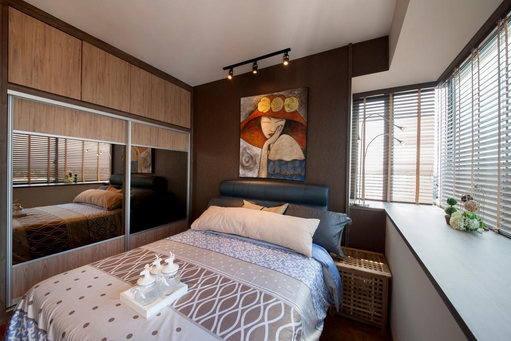 Contemporary, Condo, Bedroom, Upper Changi Road, Interior Designer, ECasa Studio, Bed, Furniture, Indoors, Interior Design, Room