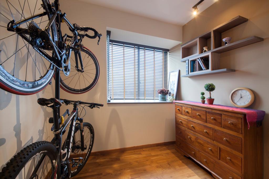 Contemporary, Condo, Study, Upper Changi Road, Interior Designer, ECasa Studio, Bicycle, Bike, Transportation, Vehicle